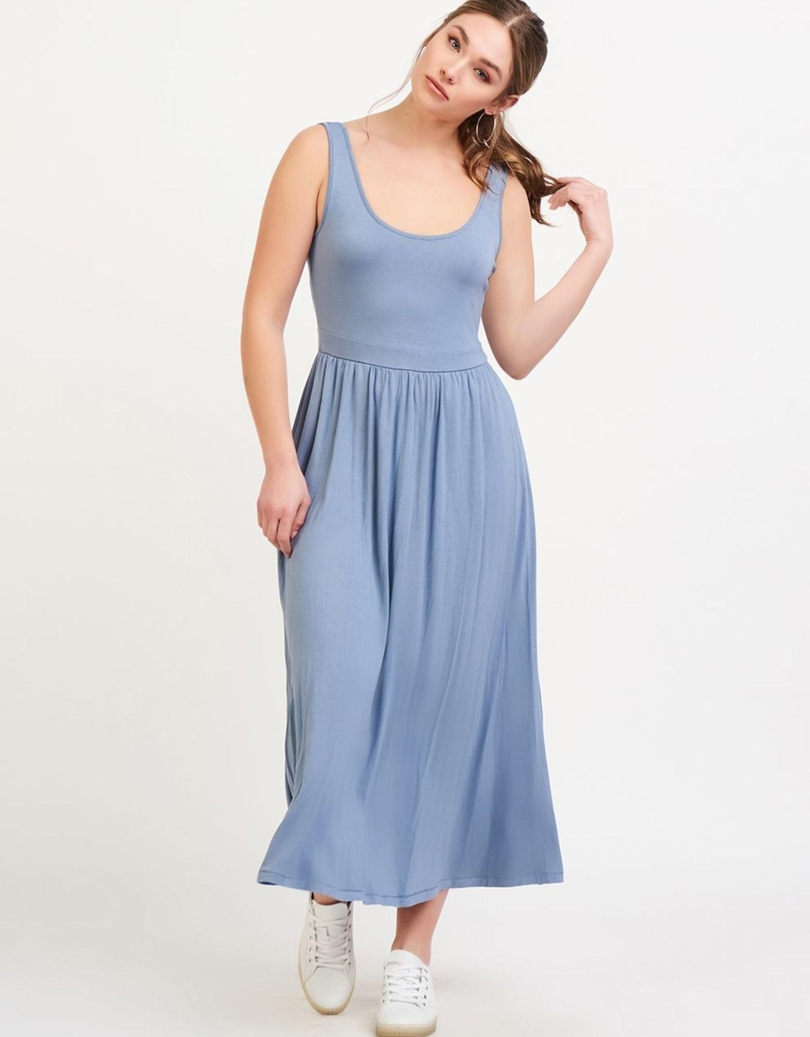 Black Tape True Blue Midi Dress