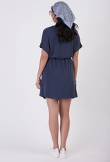 Black Tape Indigo Wrap Dress