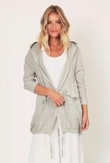 Suzy D Linen Hooded Jacket