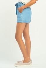 Dex Blue Tencel Shorts