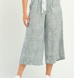 Dex Indigo Wide Leg Striped Pants
