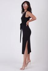 Black Tape Slub Knit Maxi Dress