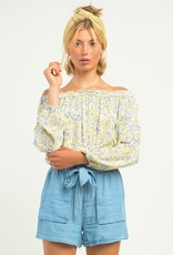 Dex Yellow Off Shoulder Top