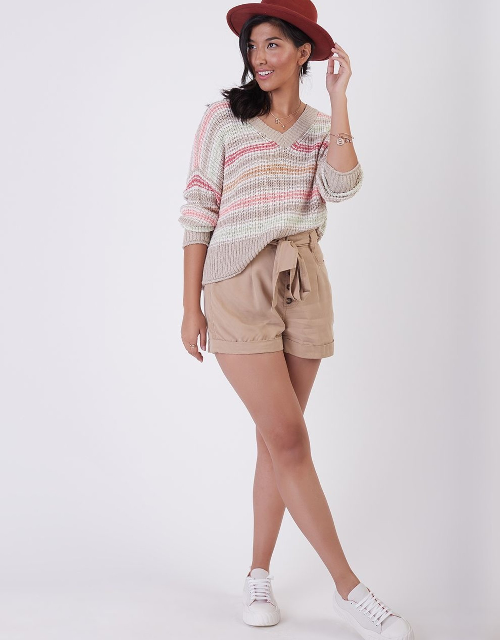 Black Tape Pastel Stripe Sweater