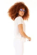 Dex Reversible Linen Lace Trim Top