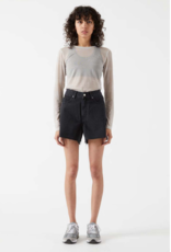 Dr Denim Nora Shorts Charcoal Black
