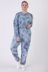 Dex Navy Tie Dye Pullover Plus