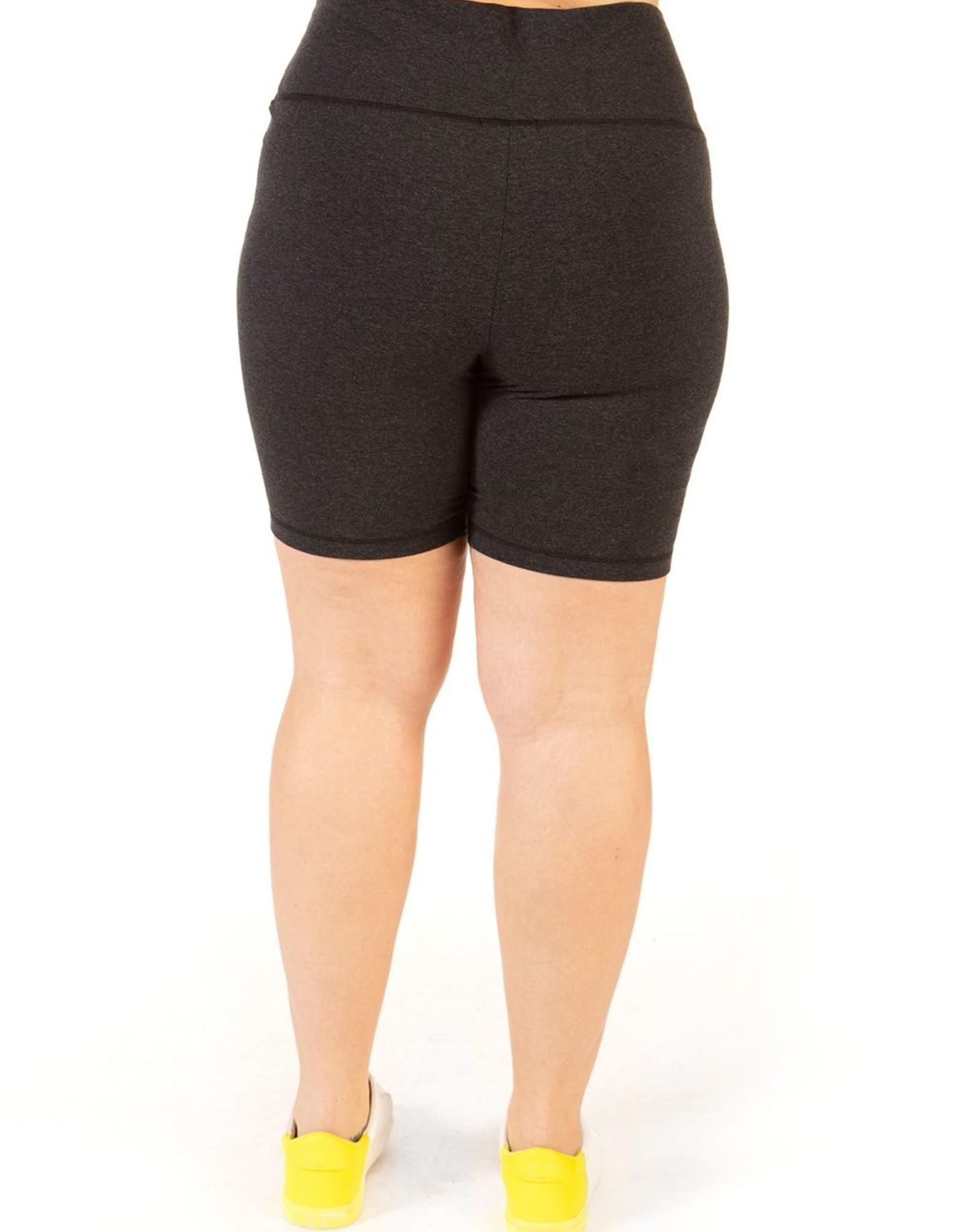 Dex Charcoal Biker Shorts Plus