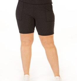 Dex Charcoal Biker Shorts Plus