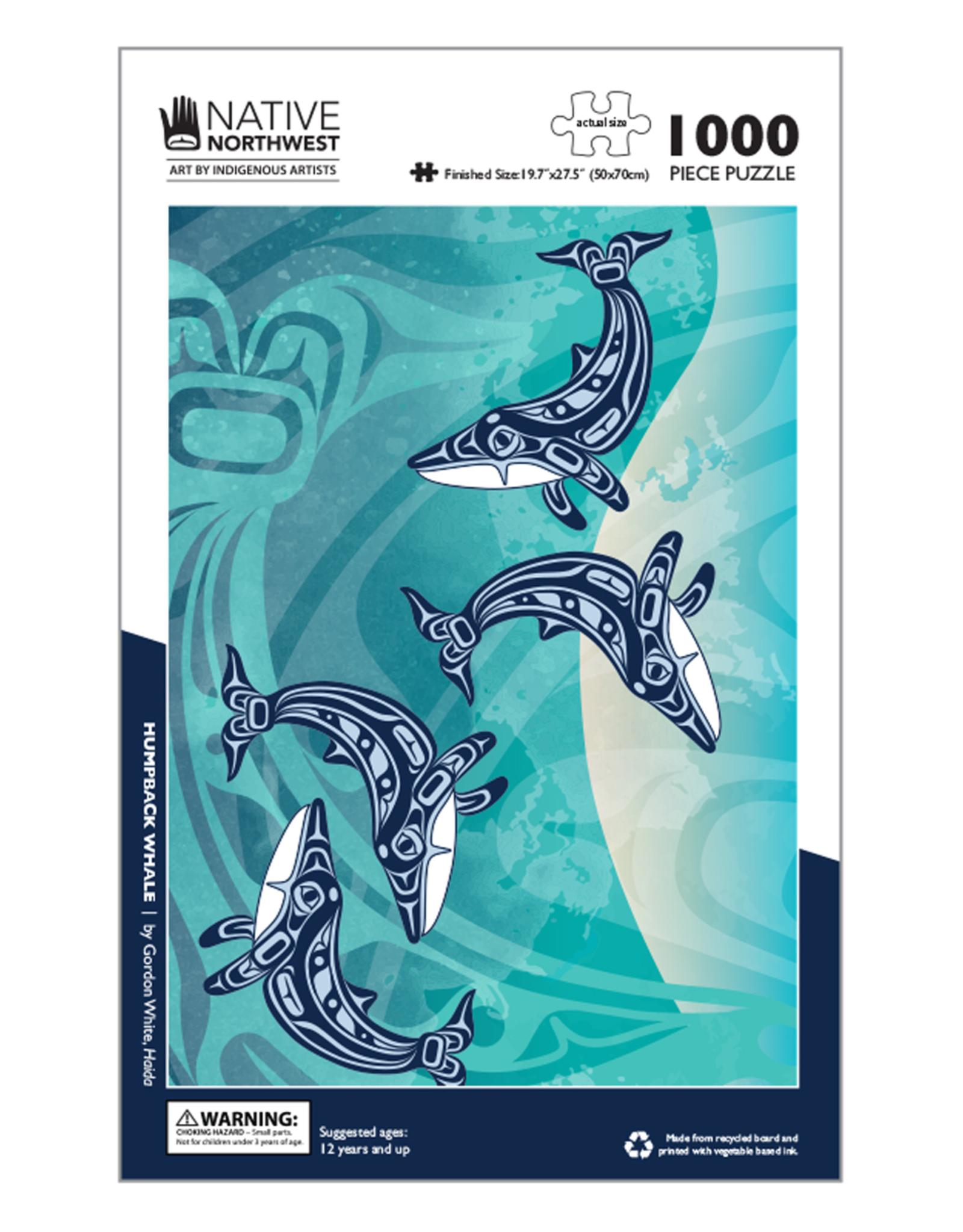 Native Northwest Humpback Whale Puzzle 1000pc