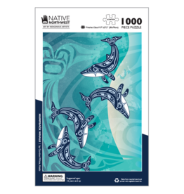 Native Northwest Humpback Whale Puzzle 1000pc