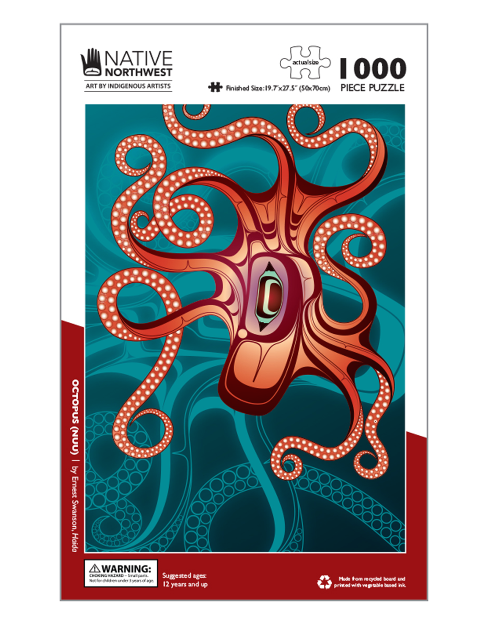 Native Northwest Octopus Puzzle 1000pc