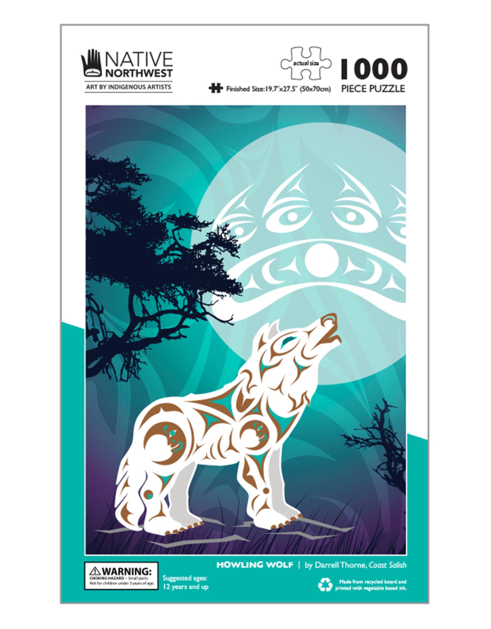 Native Northwest Howling Wolf Puzzle 1000pc
