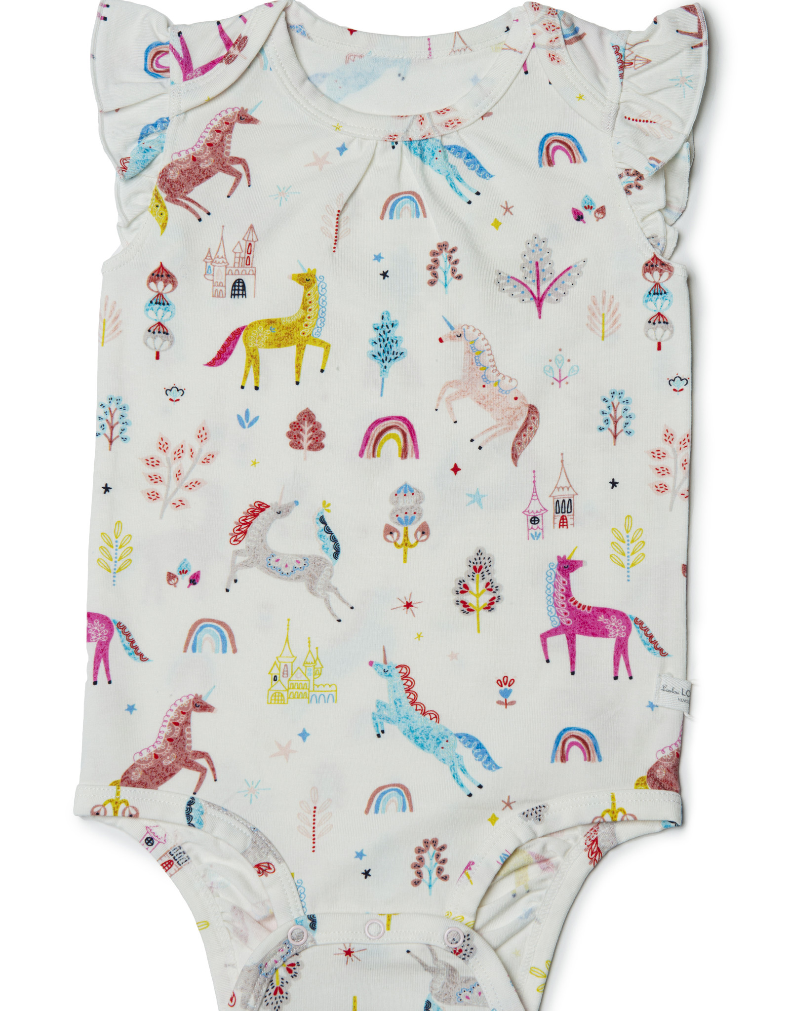 Loulou Lollipop Tencel Bodysuit Unicorn