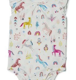 Loulou Lollipop Tencel Bodysuit Unicorn