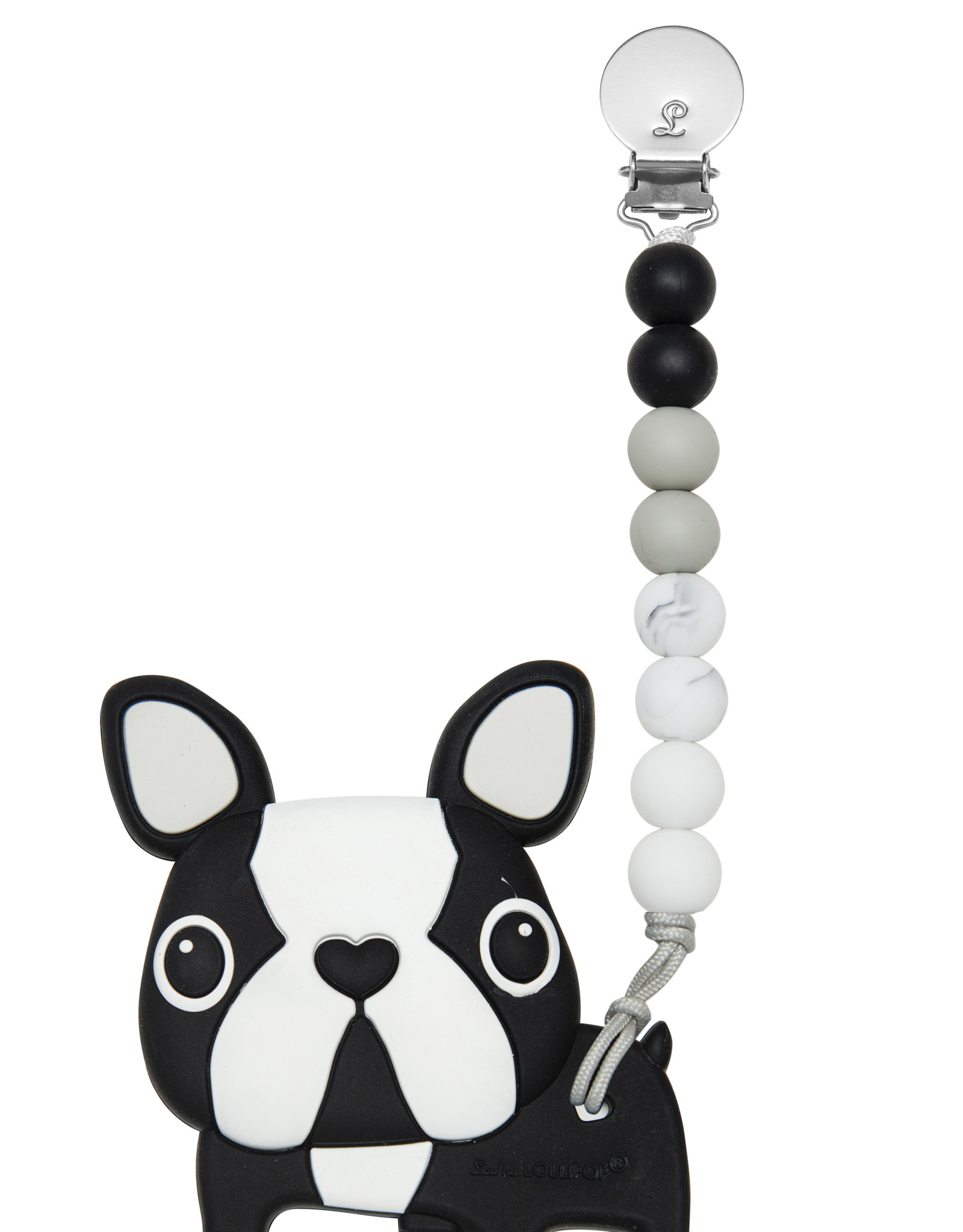 Loulou Lollipop Boston Terrier Silicone Teether Gem Set