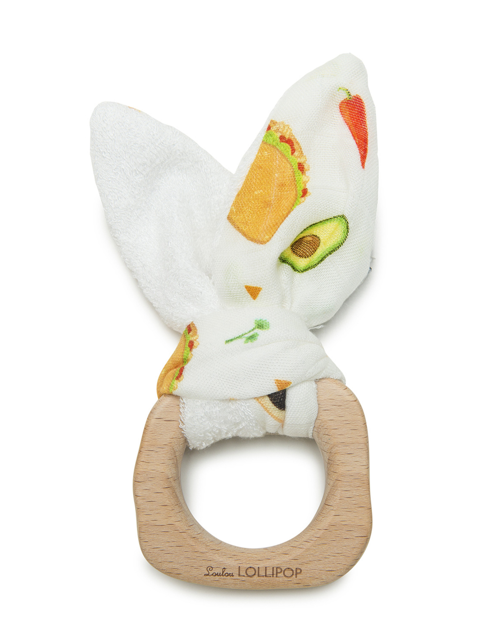 Loulou Lollipop Bunny Ear Teething Ring Tacos