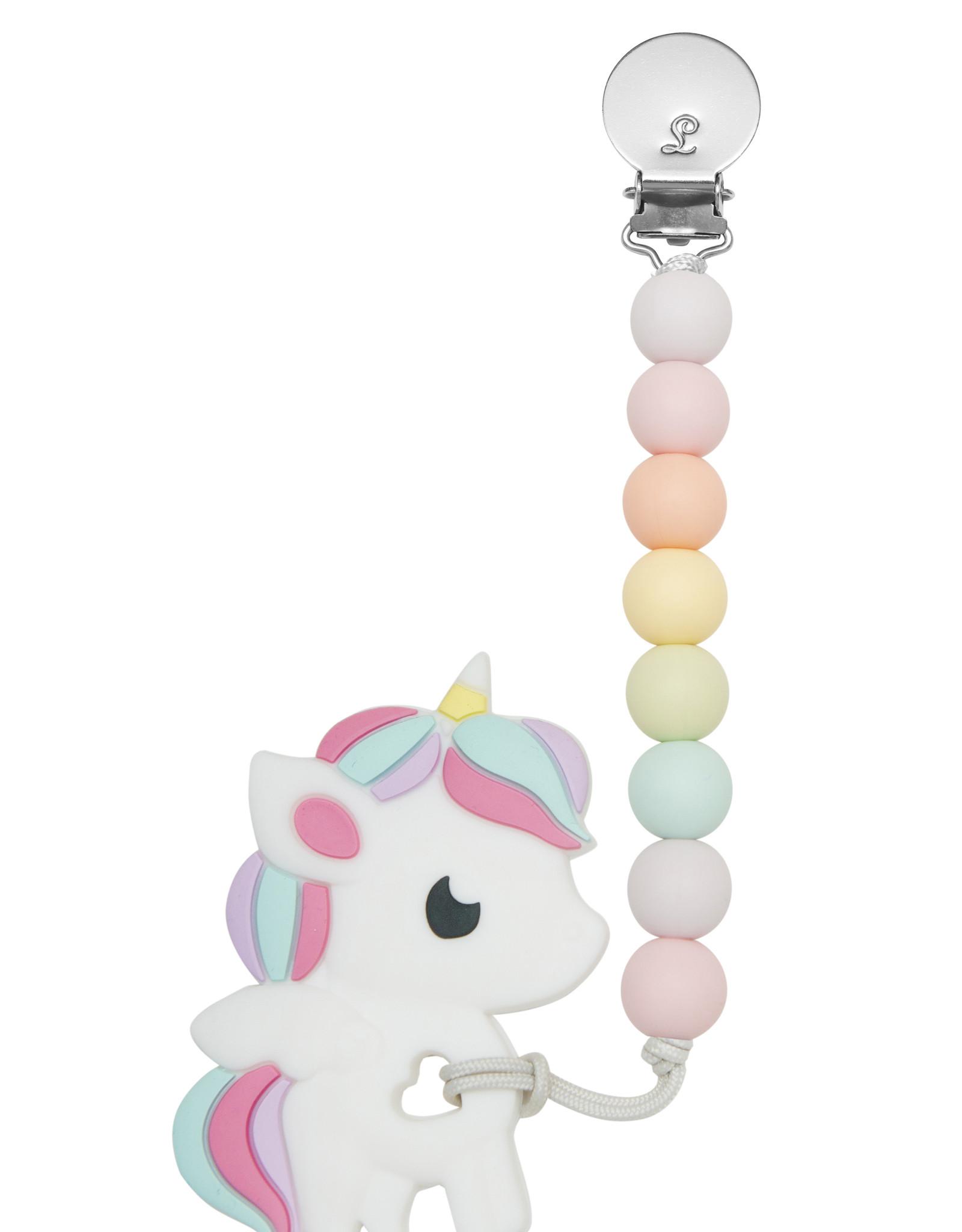 Loulou Lollipop Silicone Teether Rainbow Unicorn