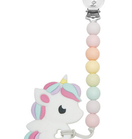 Loulou Lollipop Silicone Teether Rainbow Unicorn
