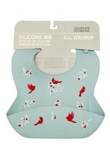 Loulou Lollipop Silcone Bib Cardinal