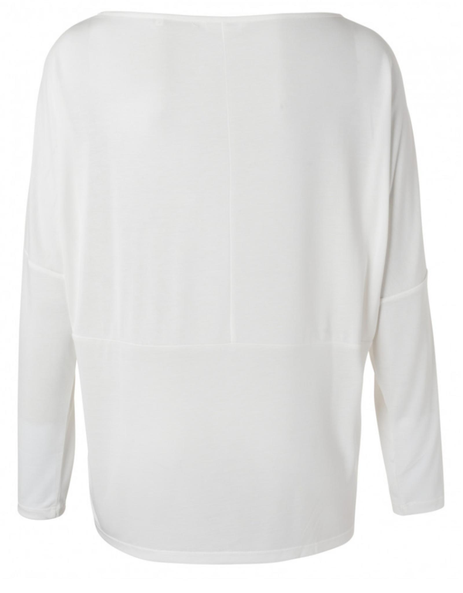 Yaya Fabric Mix L/S White