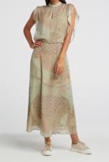 Yaya Printed High Neck Dress Artichoke
