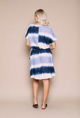Orb Clothing Violet Jersey Dress Dip Dye