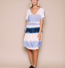 Orb Clothing Violet Jersey Dress Dip Dye