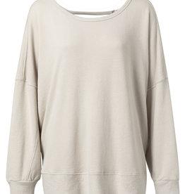 Yaya Oversized Open Back Sweatshirt