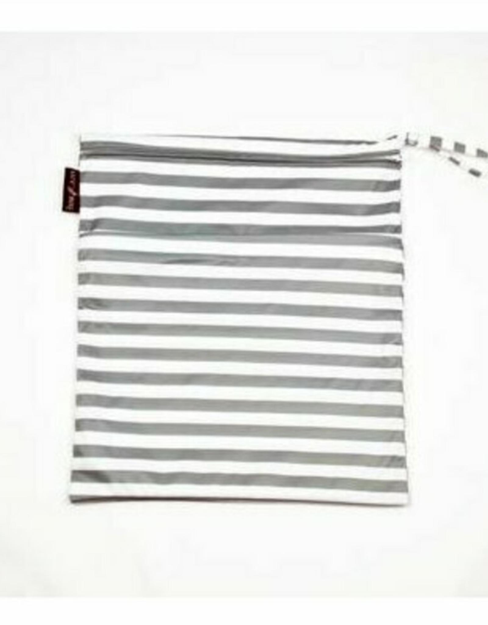 Love Bug Wet Bag - Gray Stripes