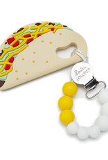 Loulou Lollipop Silicone Teether Set Taco