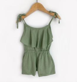 Carken Design Green Linen Tie Romper