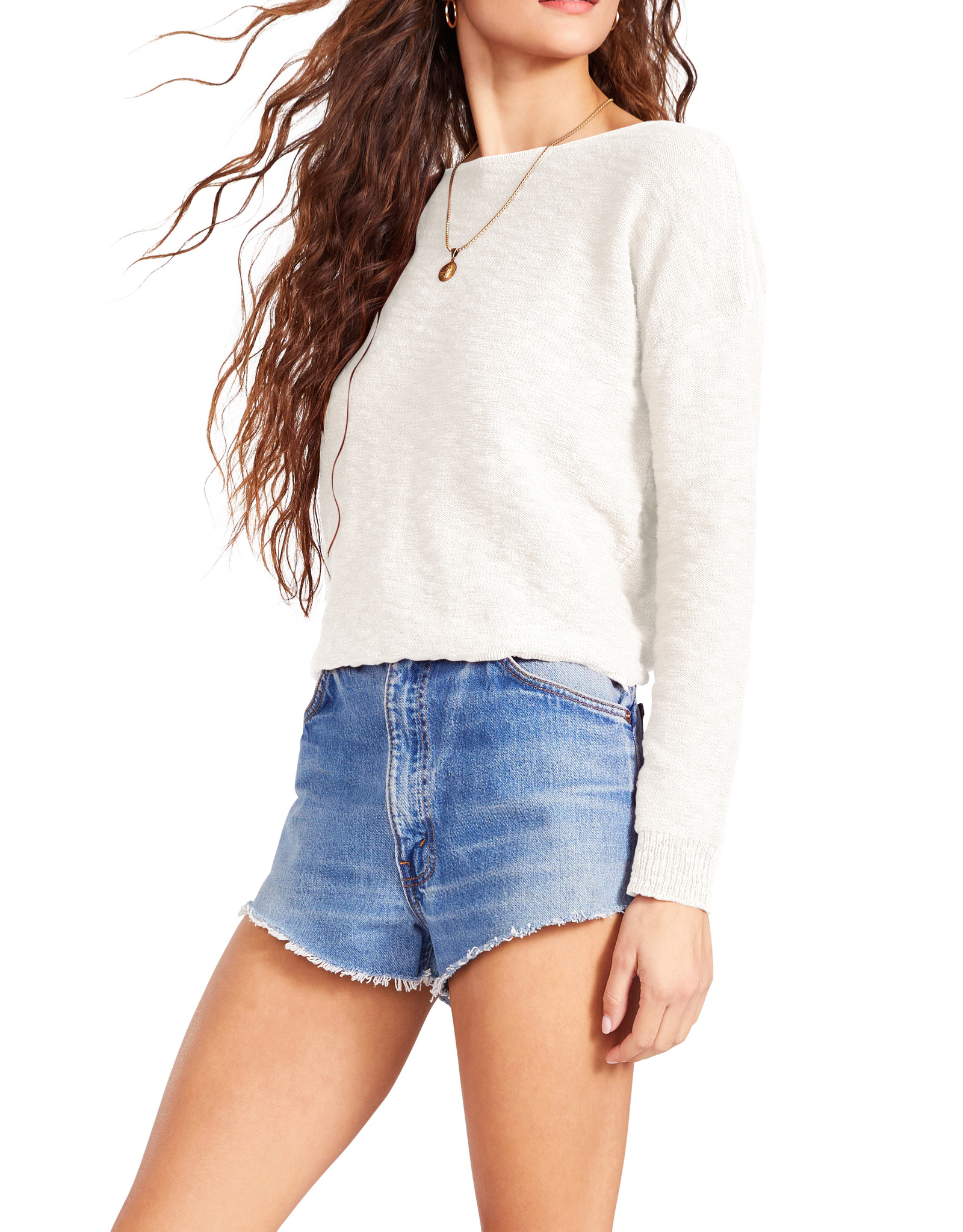 Bb Dakota Ivory Twist Connection Sweater