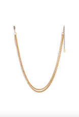 Hailey Gerrits Abacus Necklace Peach Moonstone