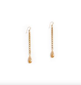 Hailey Gerrits Abacus Earrings Coral Jade