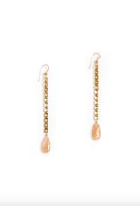Hailey Gerrits Abacus Earrings Peach Moonstone