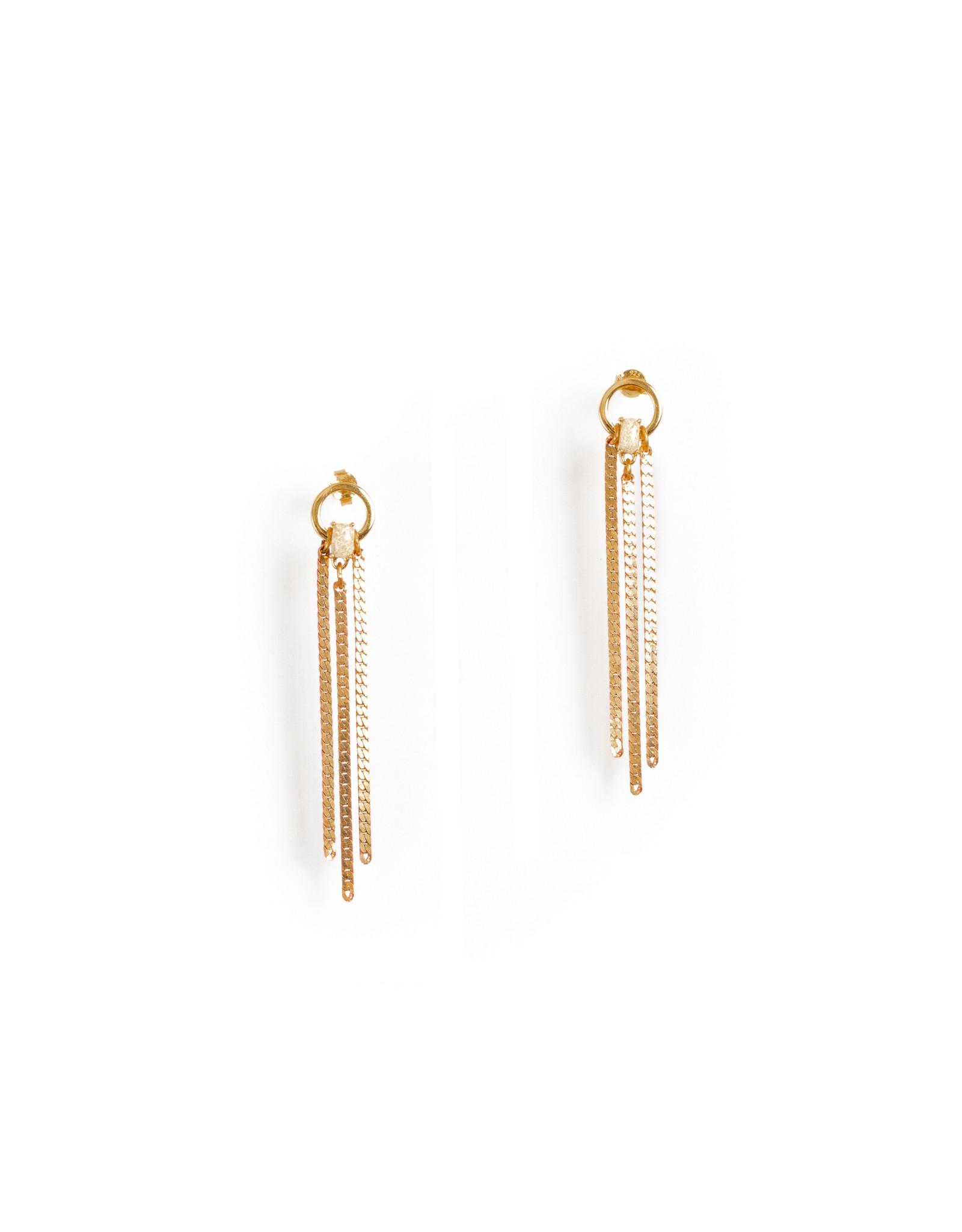 Hailey Gerrits Fates Earrings Coral Jade