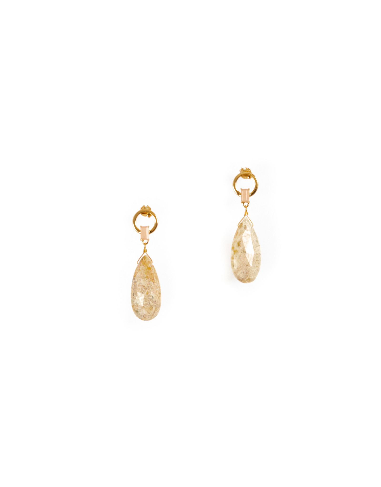 Hailey Gerrits Sima Earrings Peach Moonstone