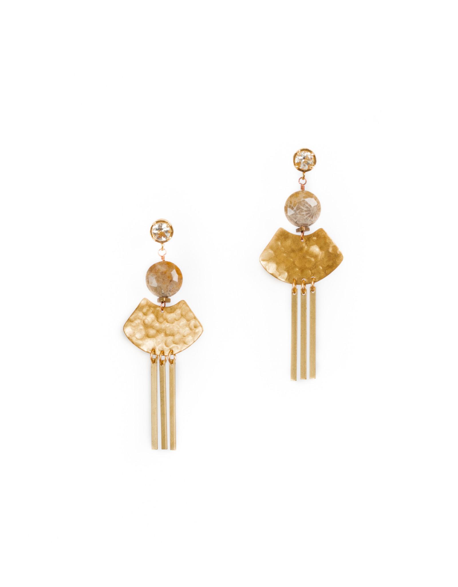 Hailey Gerrits Delphi earrings Green Amethyst