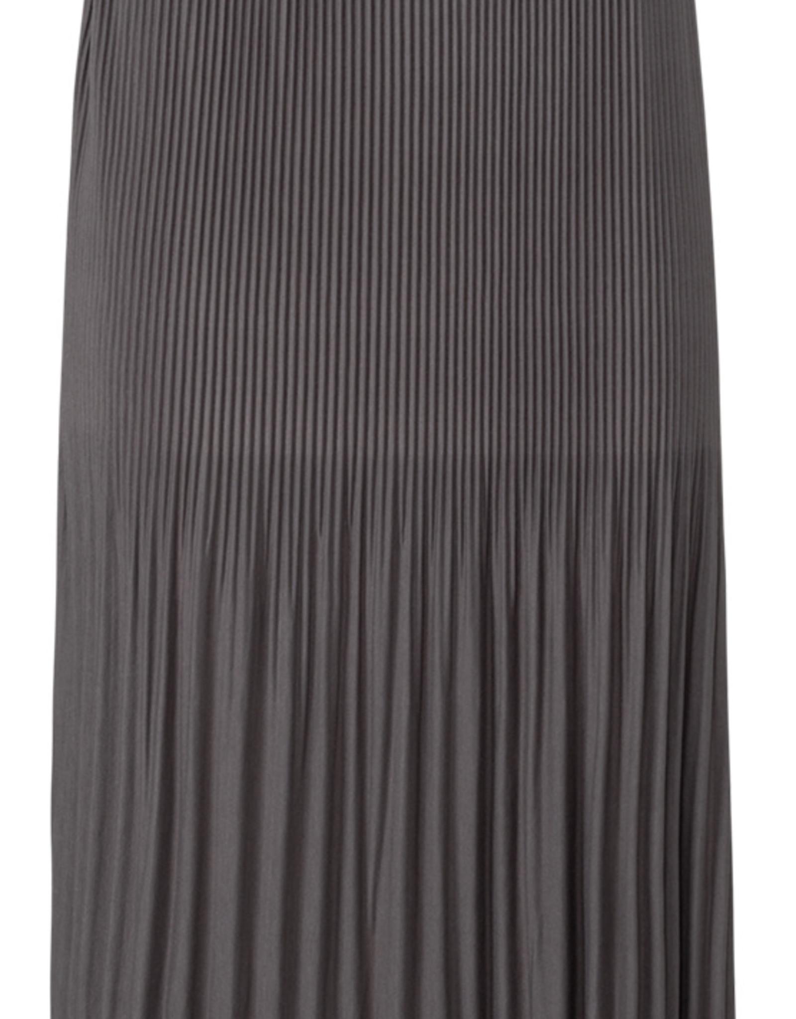 Yaya Jersey Pleat Skirt Smoke