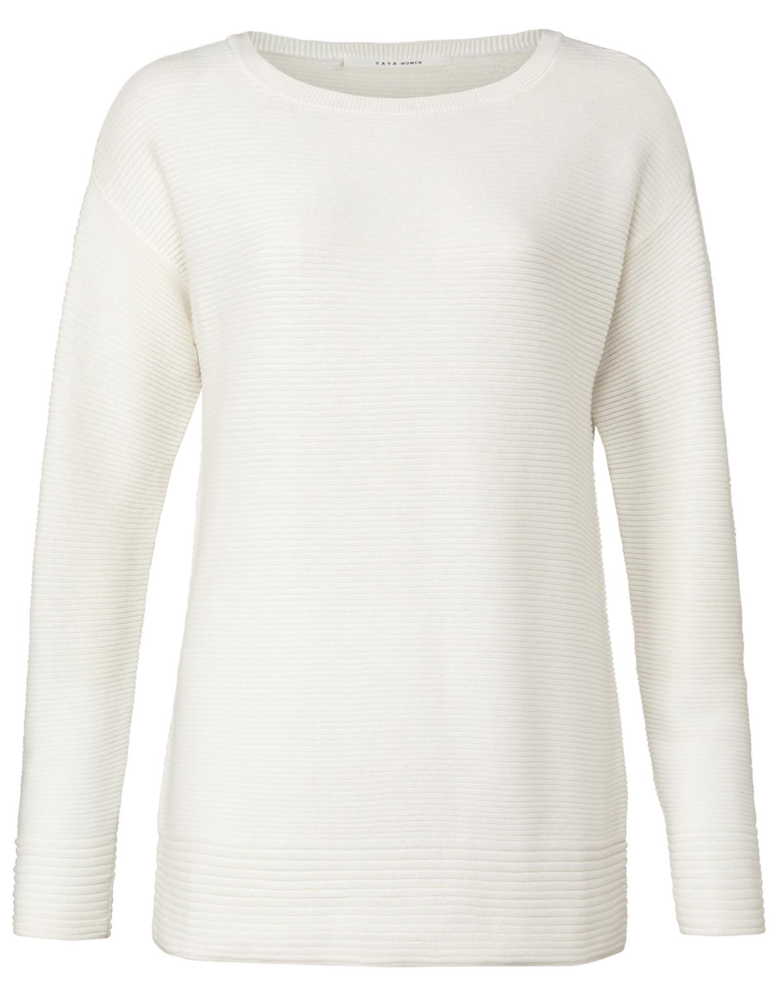 Yaya Boatneck Sweater White
