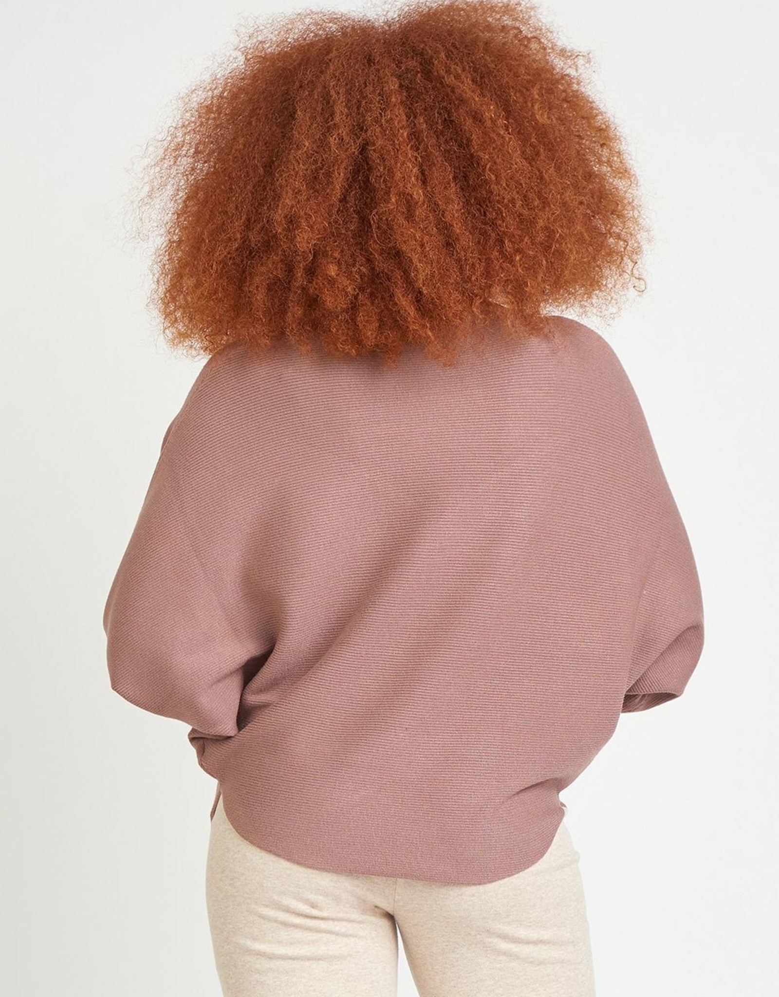 Dex Dolman Sleeve Blush