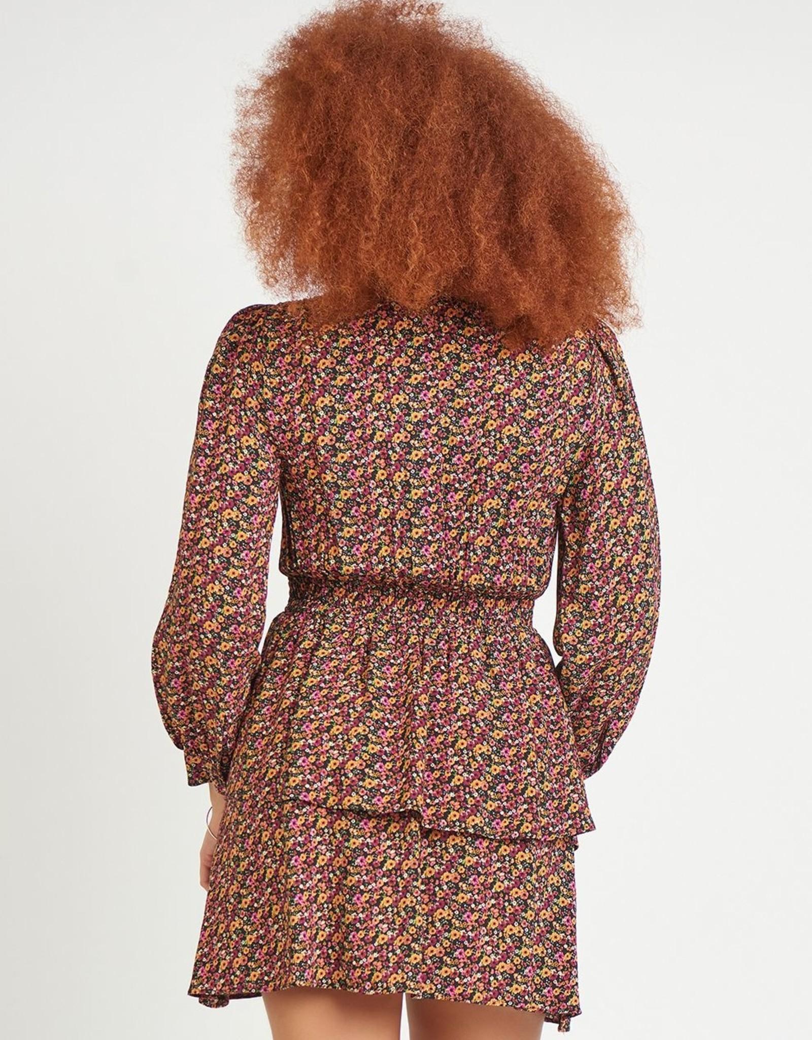 Dex Smocked Waist Dress Floral
