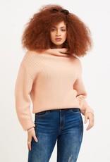 Dex Mock Neck Sweater Peach