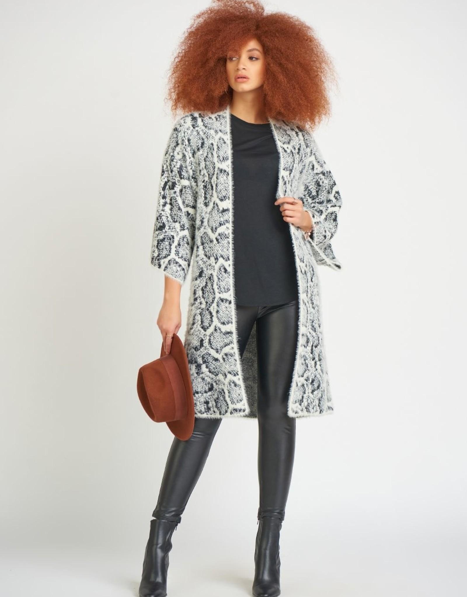 Dex Kimono Sleeve Snake Cardigan