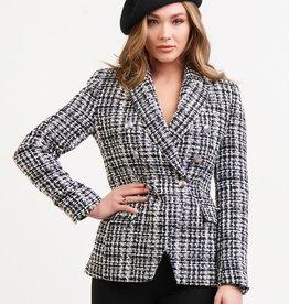 Black Tape Double Breasted Tweed Blazer