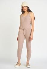 Dex Cocoa Ribbed Jumpsuit