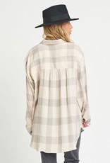 Dex Grey Plaid Shirt
