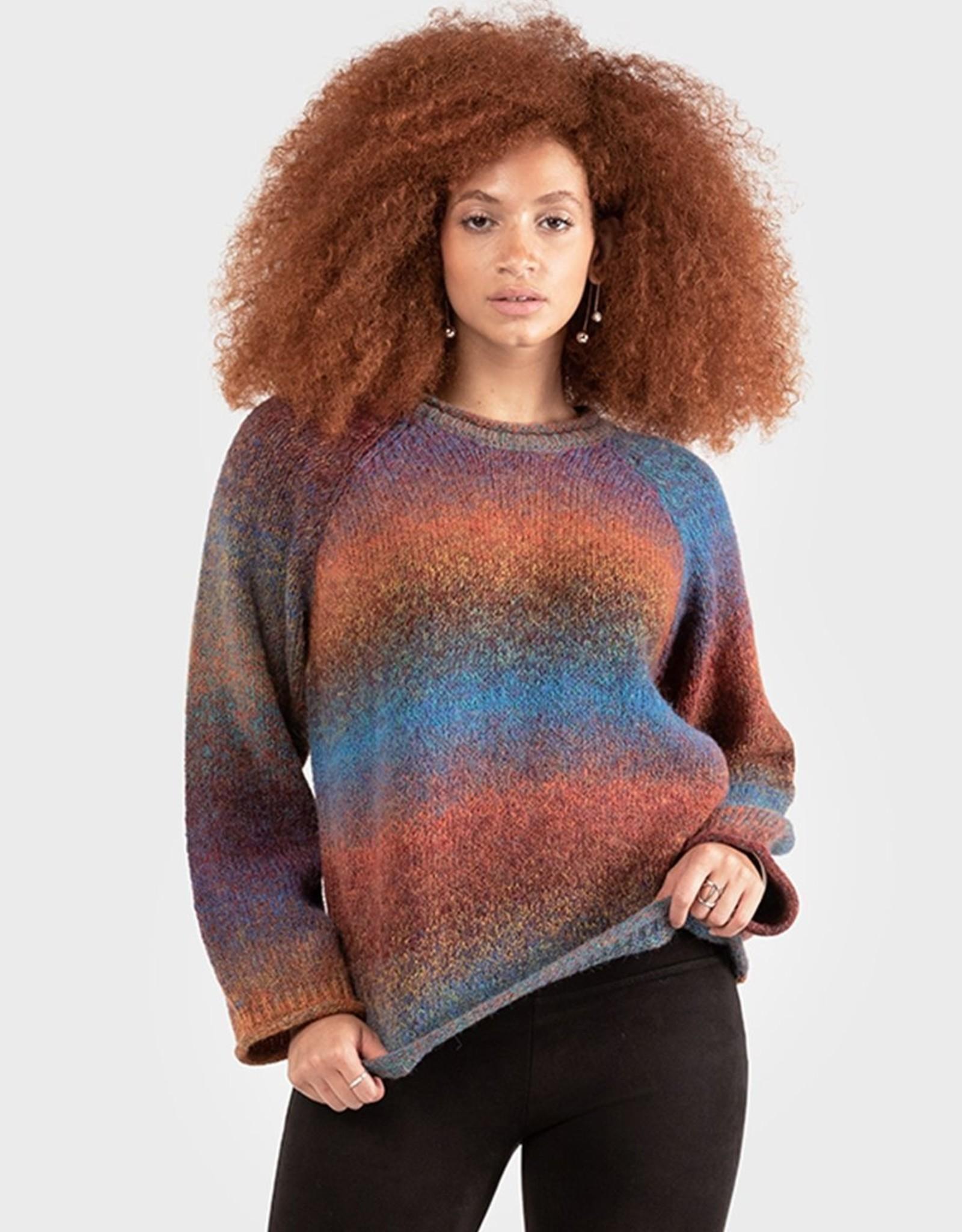 Dex Rainbow Space Dye Sweater