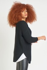 Dex Black Textured Sweater